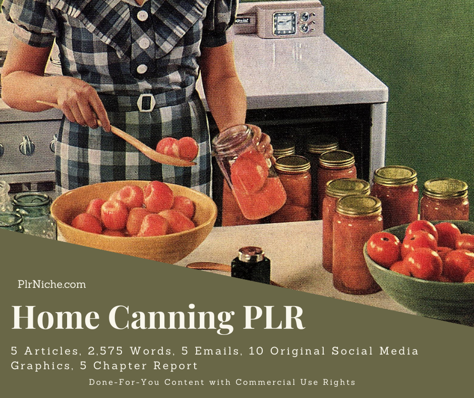 Home Canning PLR Graphic