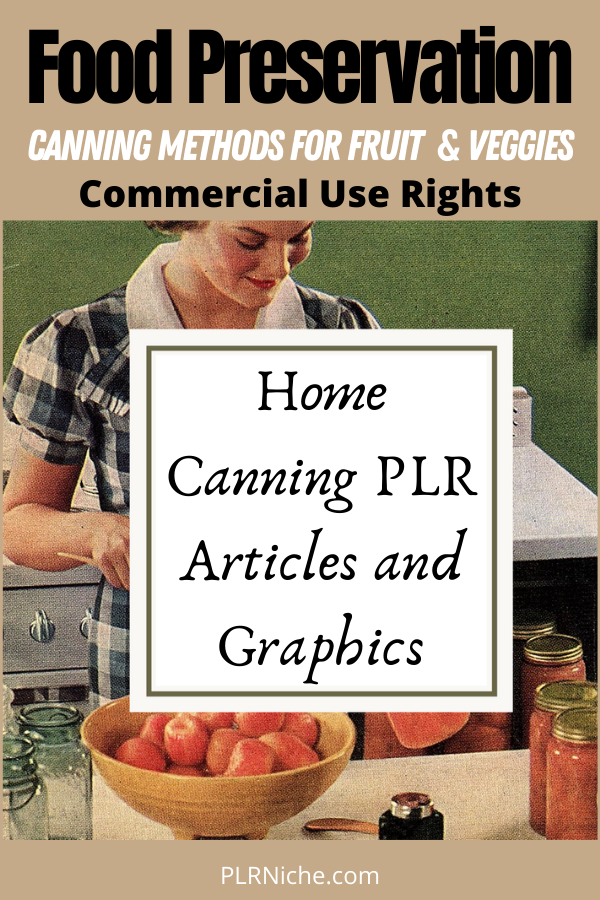 Home Canning PLR Pin