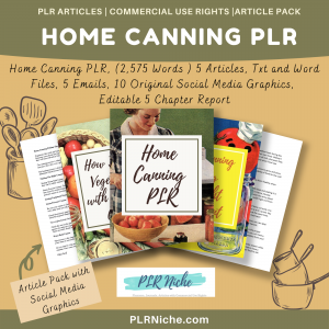 Home Canning PLR pic
