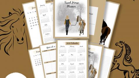 2021 Sweet Horse Planner PLR Image