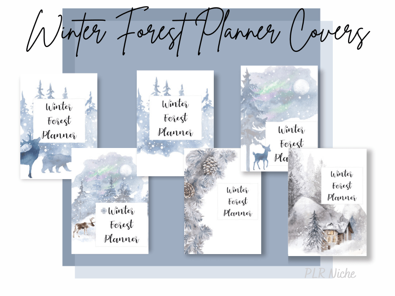 2021 Winter Forest Planner Covers pic