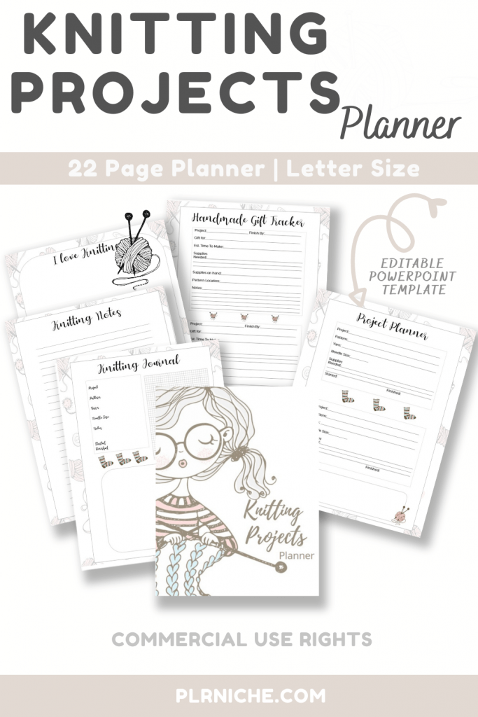 Knitting Projects Planner Pin