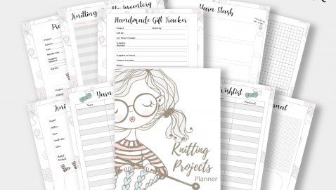 Knitting Projects Planner PLR Product