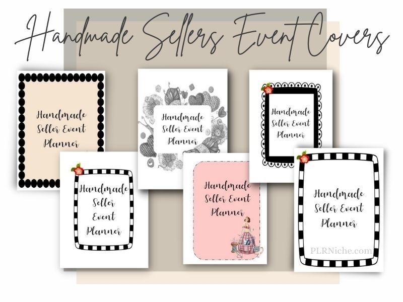 Handmade Sellers Event Planner PLR Covers