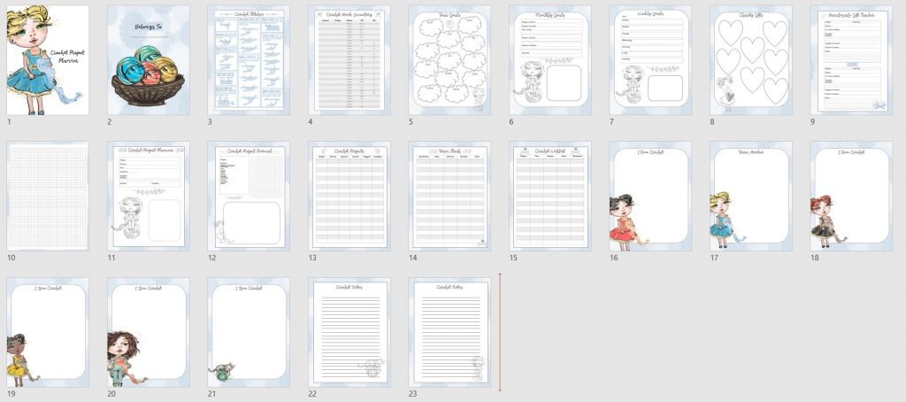 Crochet Planner PLR 23 Pages