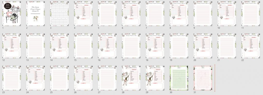 Sewing Planner PLR Template
