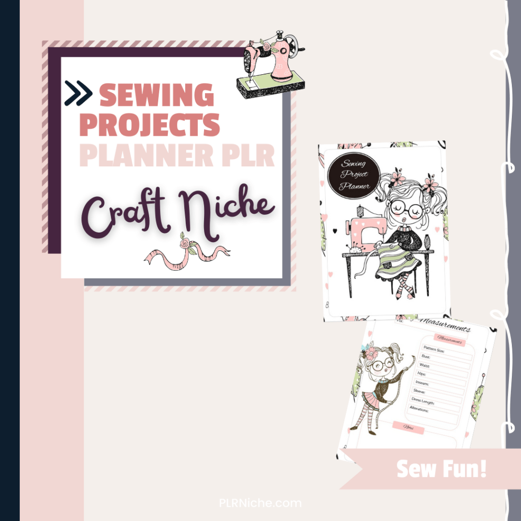 Sewing Projects Planner PLR Top