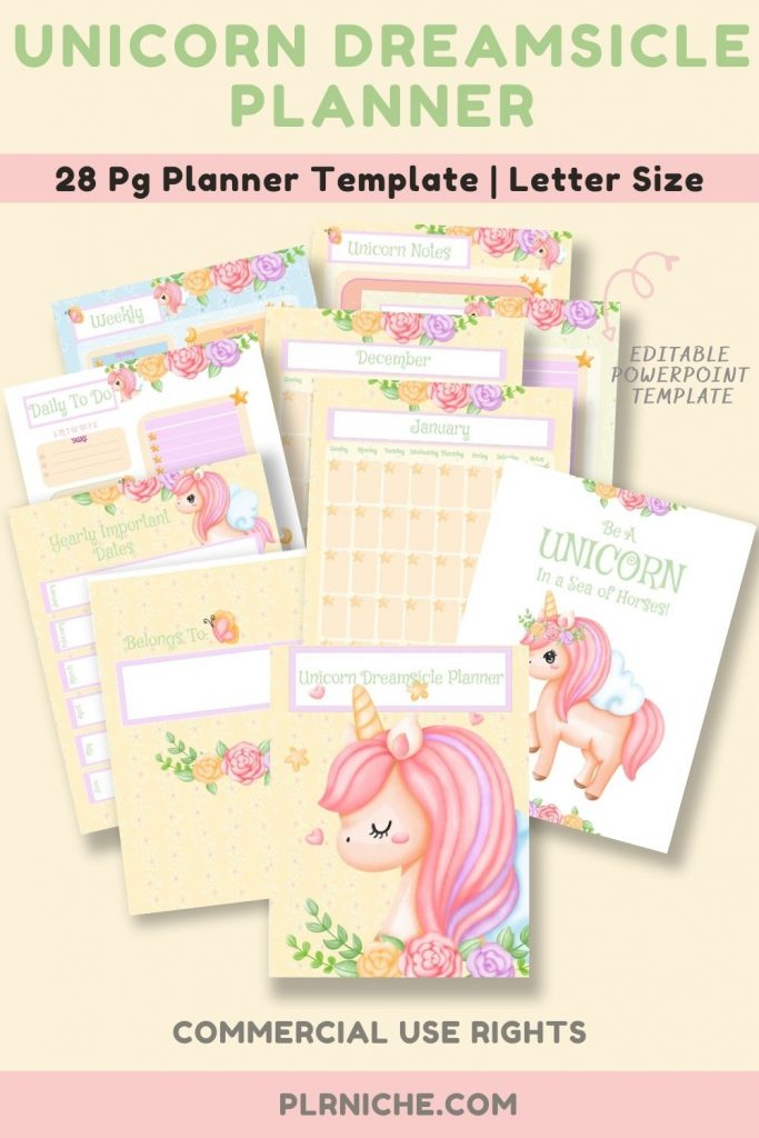 Unicorn Dreamsicle Planner Pin
