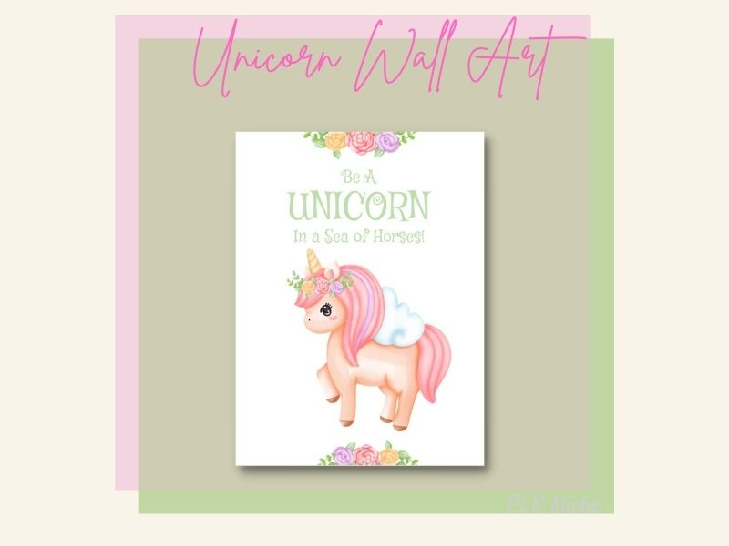 Unicorn Dreamsicle Planner Wall Art