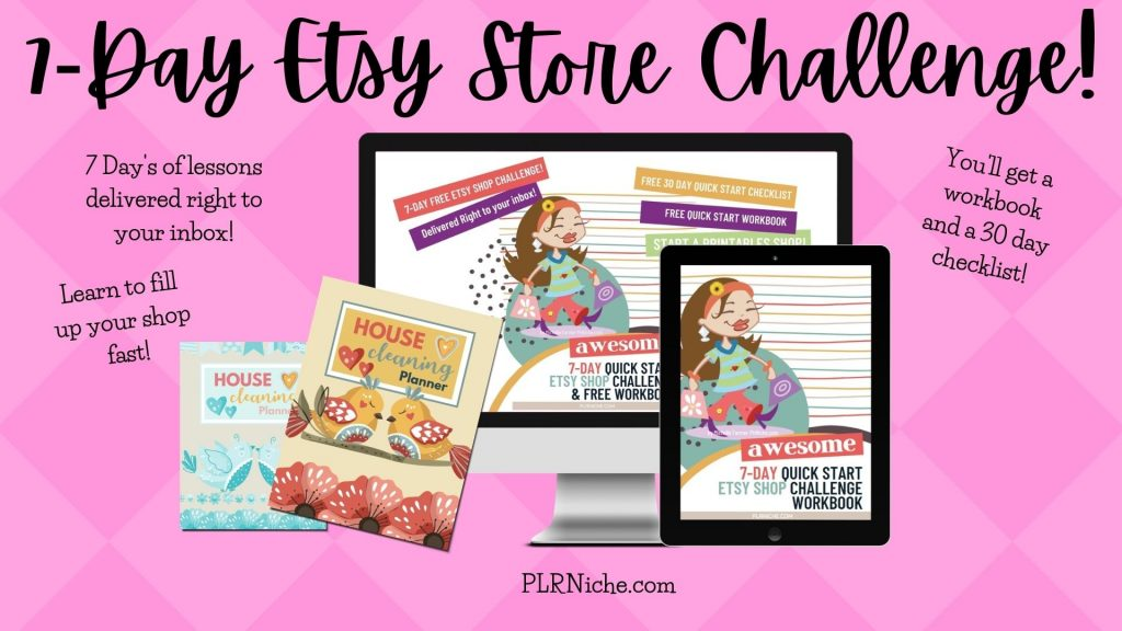 7 Day Etsy Store Challenge THANK YOU PAGE