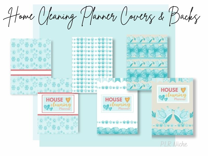 Home Cleaning Planner Covers and Backs