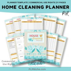 Home Cleaning Planner PLR Template Top