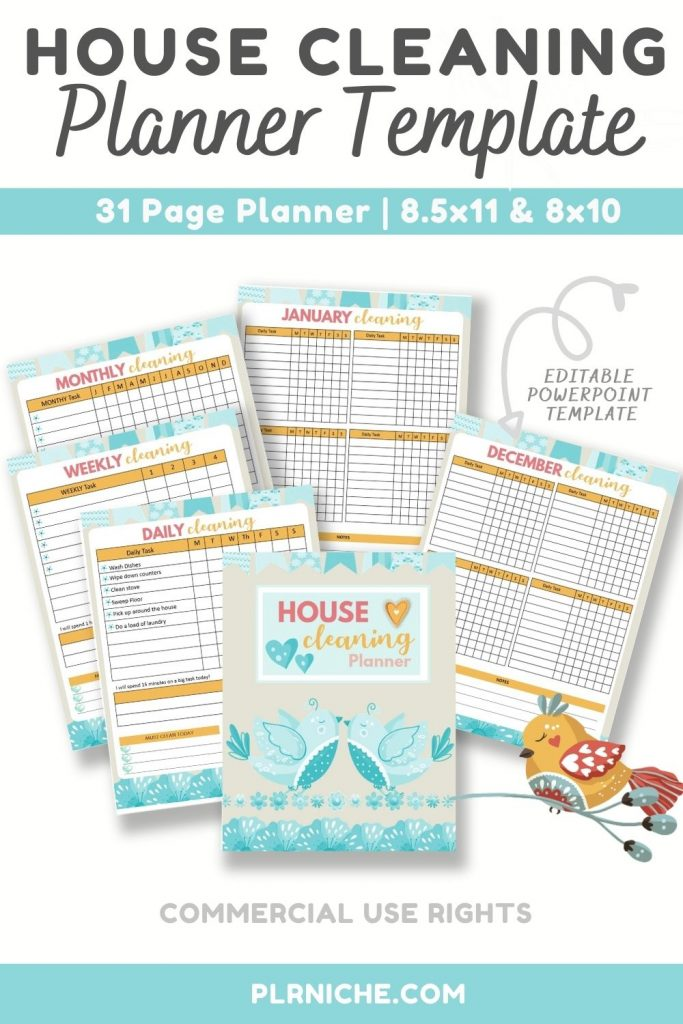 House Cleaning Planner Template Pin