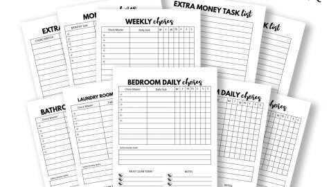 Plain Chore Charts Template