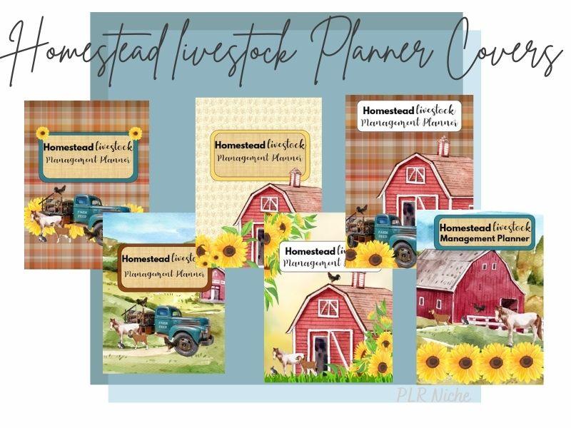 Homestead Livestock Management Planner Covers