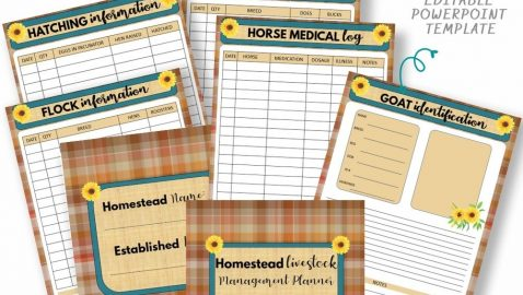 Homestead Livestock Management Planner Pin