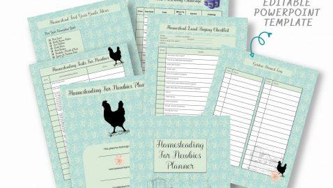 Homesteading For Newbies Planner PLR