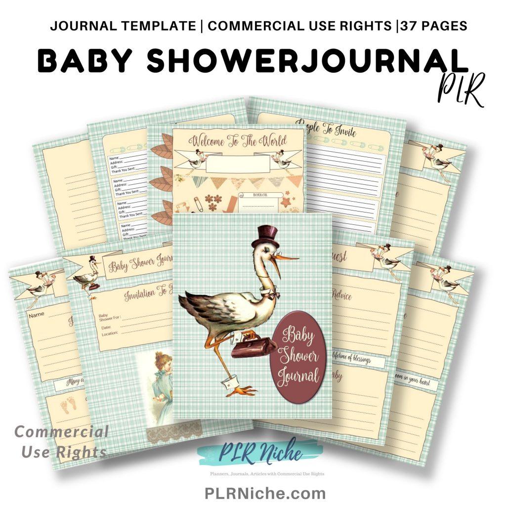 Vintage Baby Shower Journal PLR