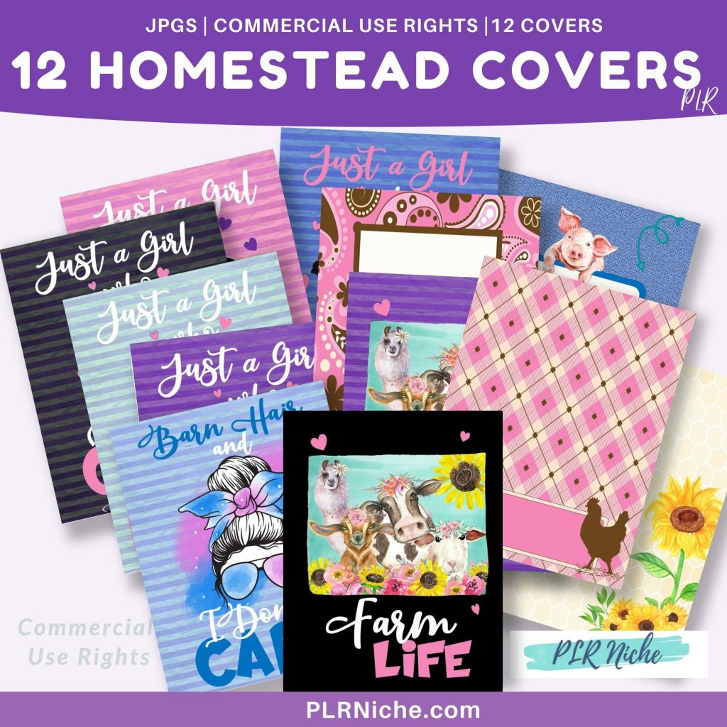 12 Homestead Covers PLR