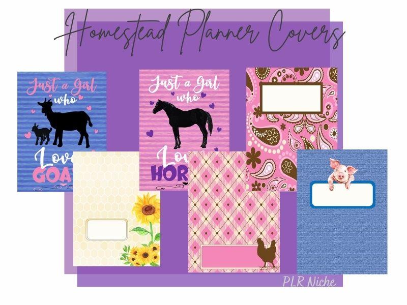 Fun Homestead Planner Covers PLR