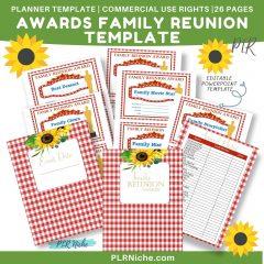 Awards Family Reunion Template PLR