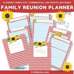 Family Reunion Planner PLR