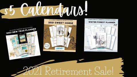 Calendar Blow out sale