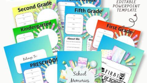 Kids School Keepsake Journal PLR